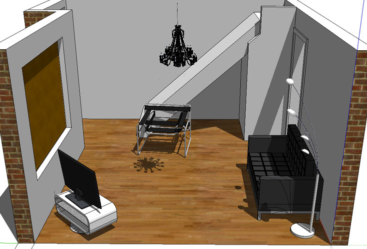 3D Livingroom One Google SketchUp By Scottclay